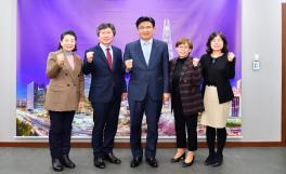 마천1,2동 주민대표와의 기념촬영